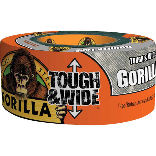 Gorilla 2.88 In. x 25 Yd. Tough & Wide Heavy-Duty Duct Tape, Silver